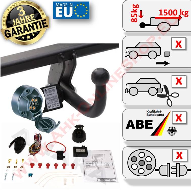Für Fiat Stilo Multiwagon Anhängerkupplung starr ABE