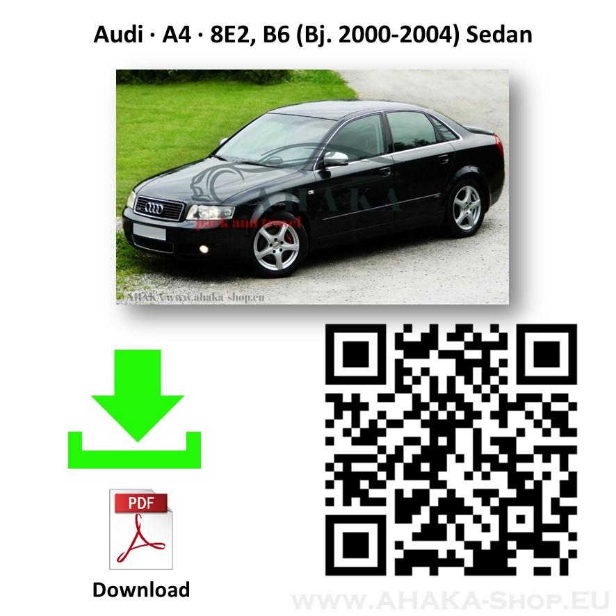 13poli kit el Gancio di traino estraibile Audi A4 B6 B7 berlina 2000-2007