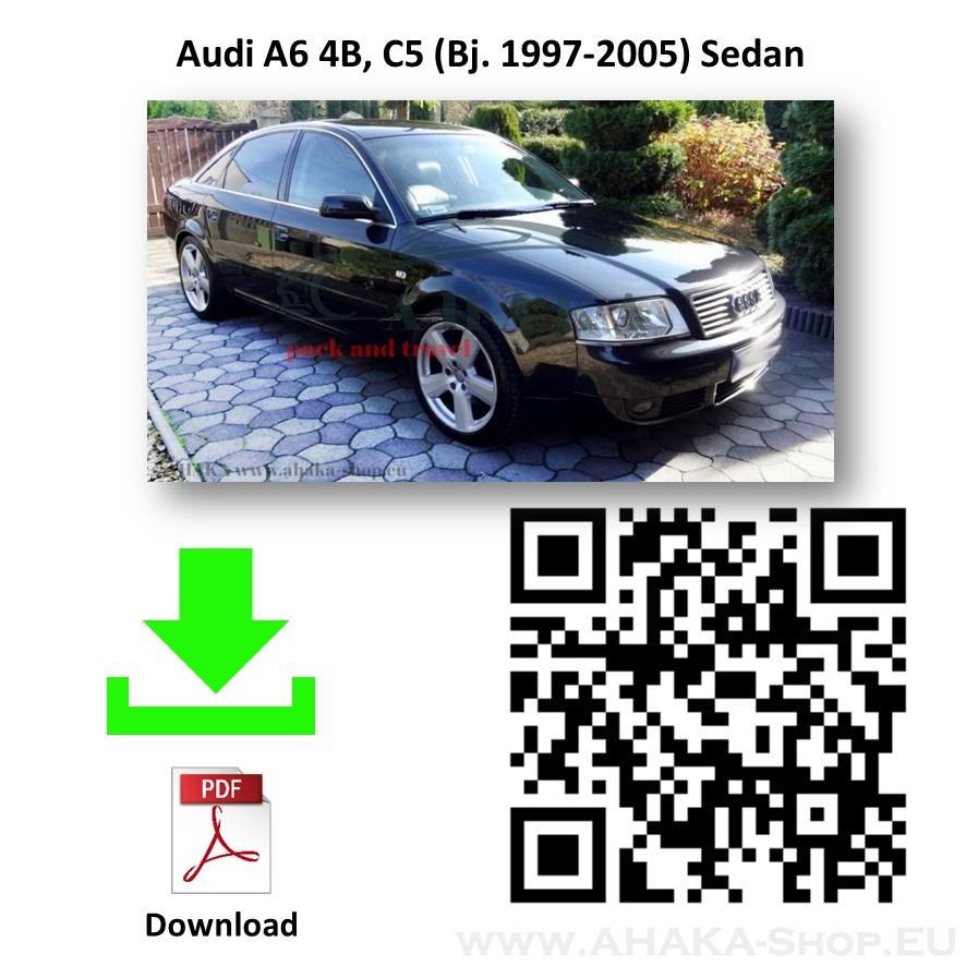 Gancio di traino rigido per Audi a6 1998-2005 c5 4b STATION WAGON Avant