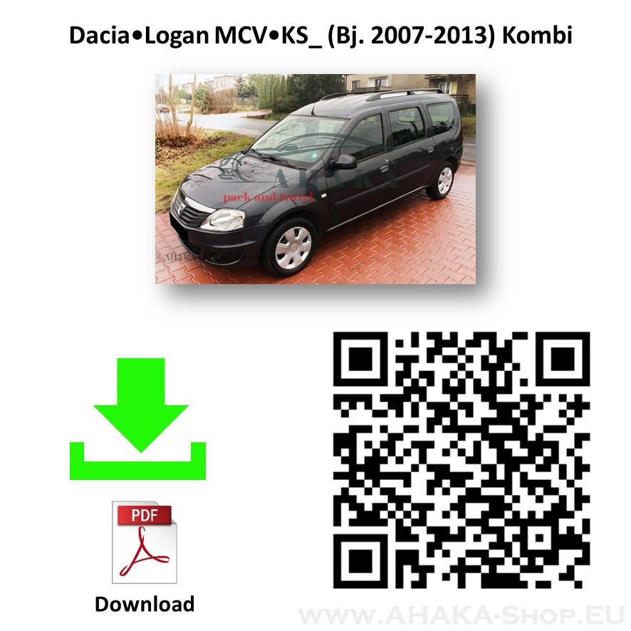 kit elettrico 7 poli Dacia Logan familiare 2007-2013 gancio di traino fisso