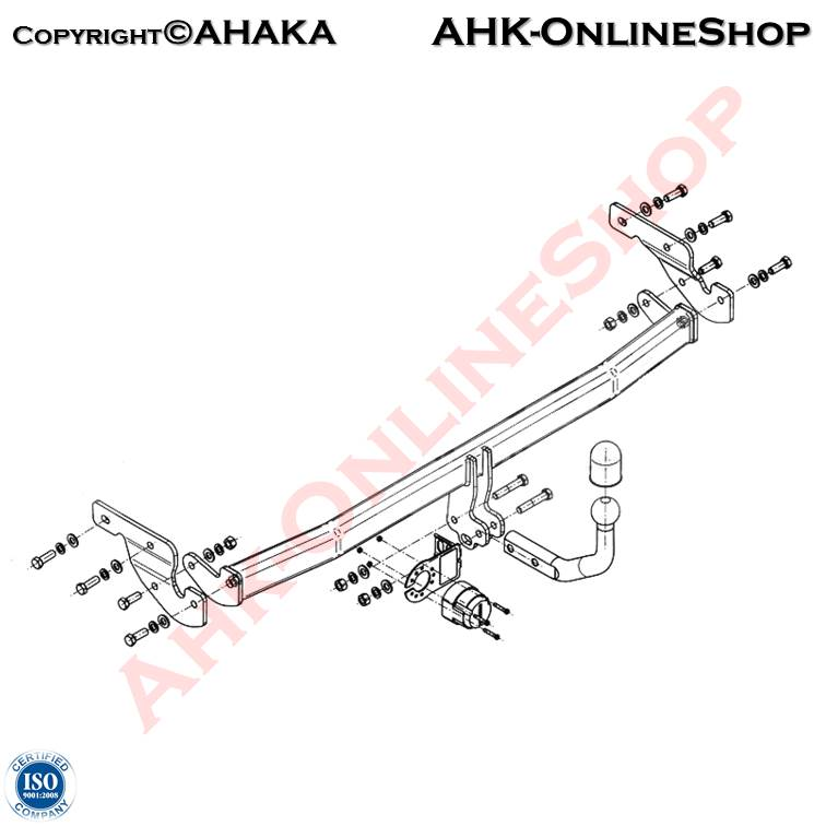 E-Satz 7 polig Hyundai i10 Bj 2008-2011 Schrägheck Anhängerkupplung AHZV AHK
